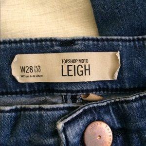 Topshop Moto Leigh Jean size 28